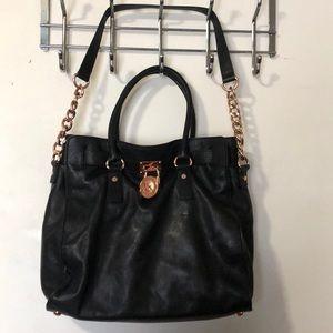 Micheal Kors black leather bag